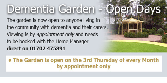 Dementia Garden open Days